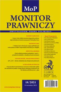 Monitor Prawniczy Nr 18/2021