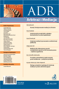 ADR Arbitraż i Mediacja - kwartalnik - numer 2/2019