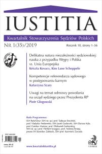 Iustitia. Kwartalnik Stowarzyszenia Sędziów Polskich Nr 1/2019