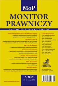 Monitor Prawniczy Nr 3/2019