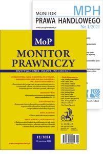 Monitor Prawniczy Nr 12/2021 + dodatek: Monitor Prawa Handlowego Nr 1/2021