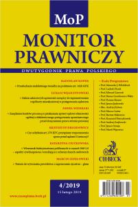 Monitor Prawniczy Nr 4/2019