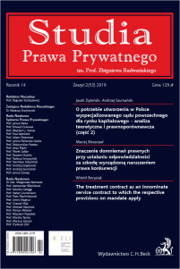 Studia Prawa Prywatnego. Zeszyt 2/2019
