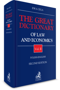 The Great Dictionary of Law and Economics. Vol. II. Polish - English