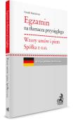 Egzamin na tłumacza przysięgłego: Wzory umów. Spółka z o. o.