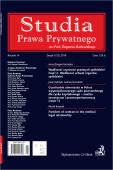 Studia Prawa Prywatnego. Zeszyt 1/2019