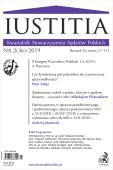 Iustitia. Kwartalnik Stowarzyszenia Sędziów Polskich Nr 2(36)/2019