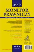 Monitor Prawniczy Nr 16/2019