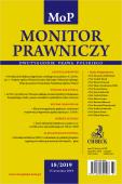 Monitor Prawniczy Nr 18/2019