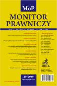 Monitor Prawniczy Nr 19/2019 + dodatek specjalny: Prawo spółek w Orzecznictwie Sądu Najwyższego