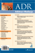 ADR Arbitraż i Mediacja - kwartalnik - numer 4/2019