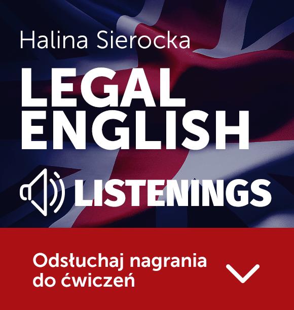 Legal English. Niezbędnik przyszłego prawnika + płyta CD