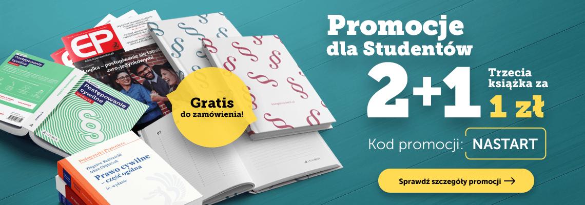 Promocje dla Studentów! Trzecia książka za 1 zł + gratisy do zamówień