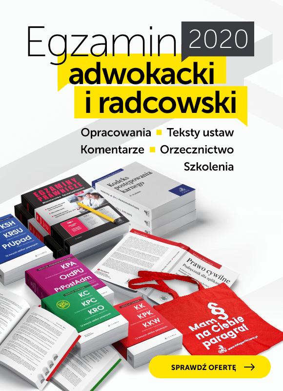 Egzamin adwokacki i radcowski 2020